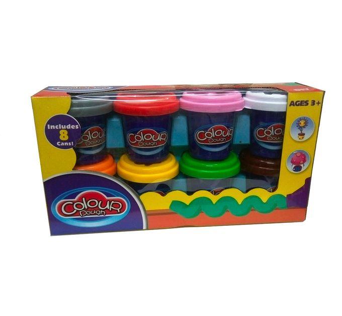 Colour Dough Pates A Modelés- Huit Boites De Différentes Couleurs- Multi-Couleurs