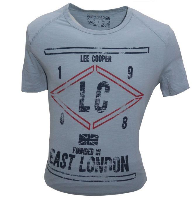Lee Cooper T-Shirt LEE COOPER - Nouvelle Collection 2019 - bleu poussiéreux