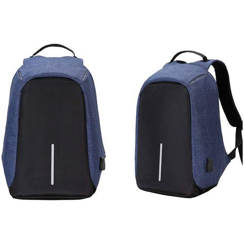 Fashion Style Sac À Dos Intelligent Avec Usb Port - Antivol (Bleu)