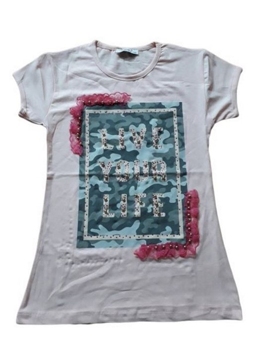 T-shirt Fille - Rose