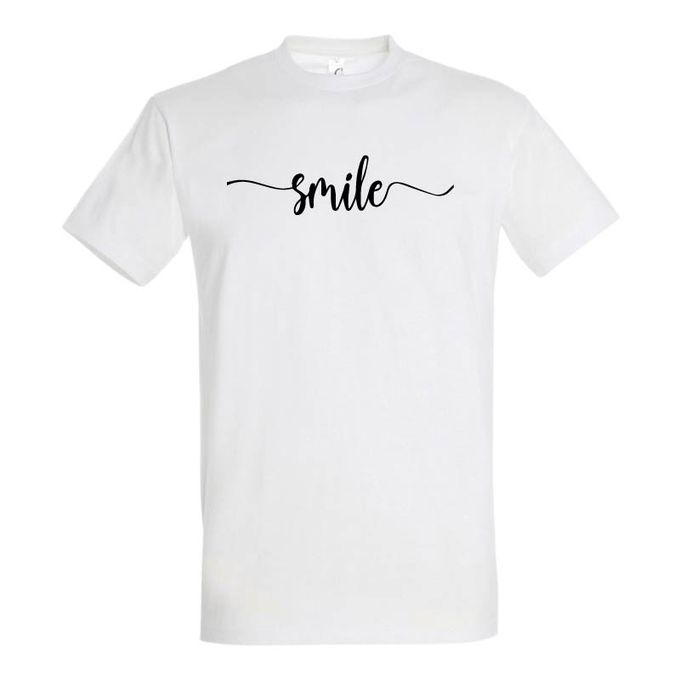 Sol's T-Shirt Homme - Smile - Blanc