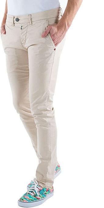 Timezone Pantalon Slim Janno Chino- 26 10013 00- Homme - Beige -