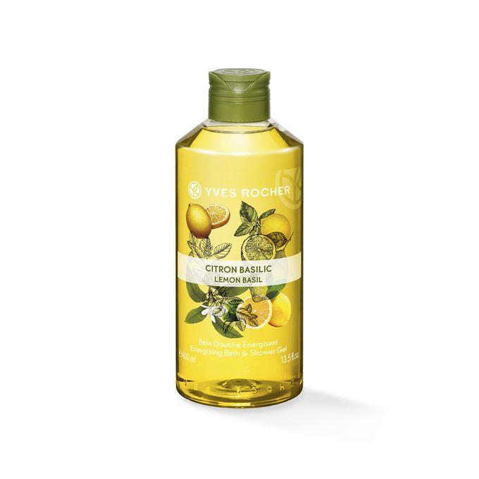 Yves Rocher Bain Douche Energisant Citron Basilic  - 06145 - 400 ML