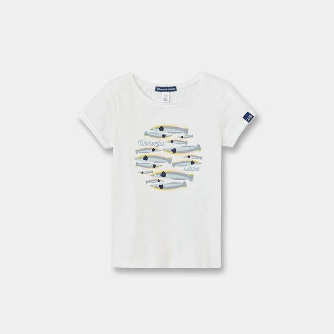 Okaidi T-shirt Disneynature fille-0087216-Blanc