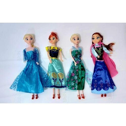 Frozen Disney Frozen - Princesses Anna Et Elsa - Reine Des Neiges - Pack 4 Pieces 30 Cm