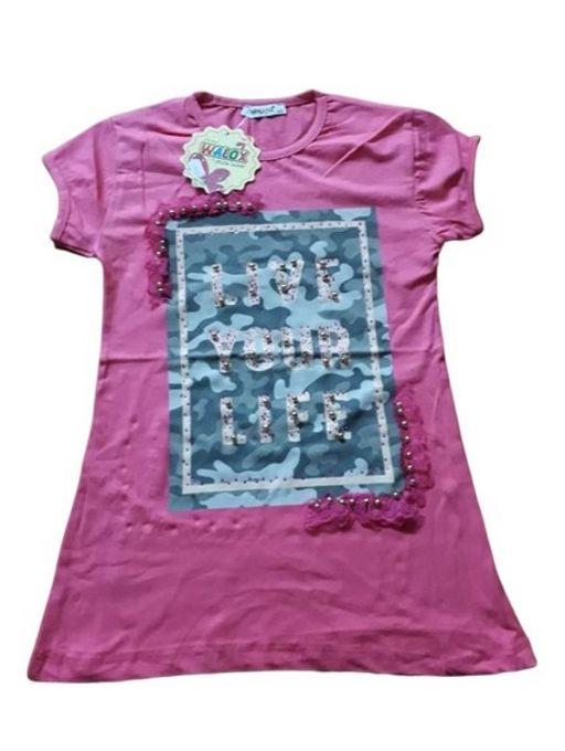 T-shirt Fille - Fuchsia