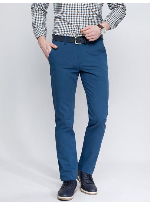 Lc Waikiki Pantalon Homme - Chino Slim Fit - Bleu