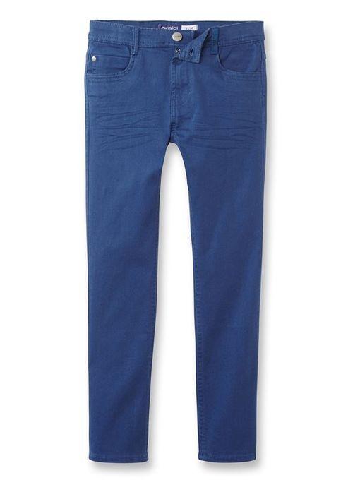 Okaidi Pantalon Slim En Toile Garçon  -  85669  -  Bleu Saphir