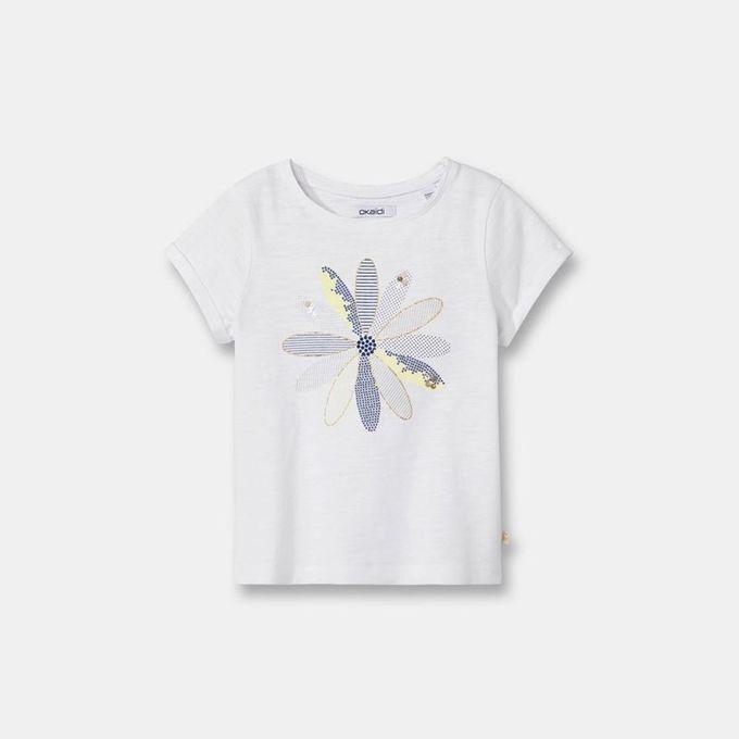 Okaidi T-shirt à motif irisé fille-0087120-Jaune
