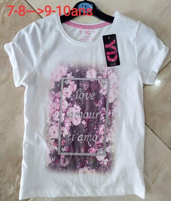 Primark T shirt Pour Fille Demi Manche - Blanc