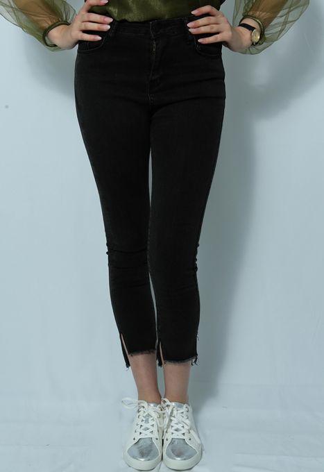 MI-DZ Jeans Taille Haute - Noir