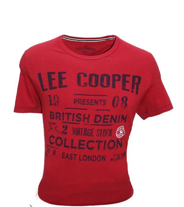 Lee Cooper T-Shirt Hommes - Rouge