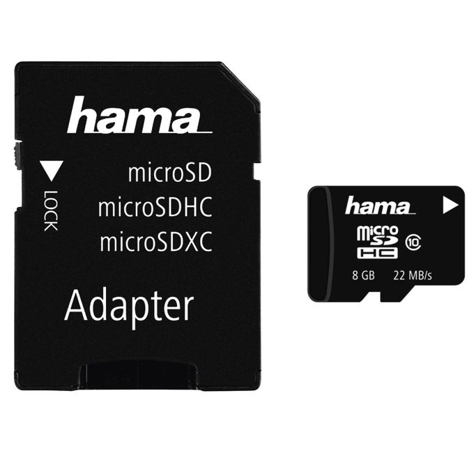 Hama Carte Mémoire MicroSDHC - 32 GB - Noir