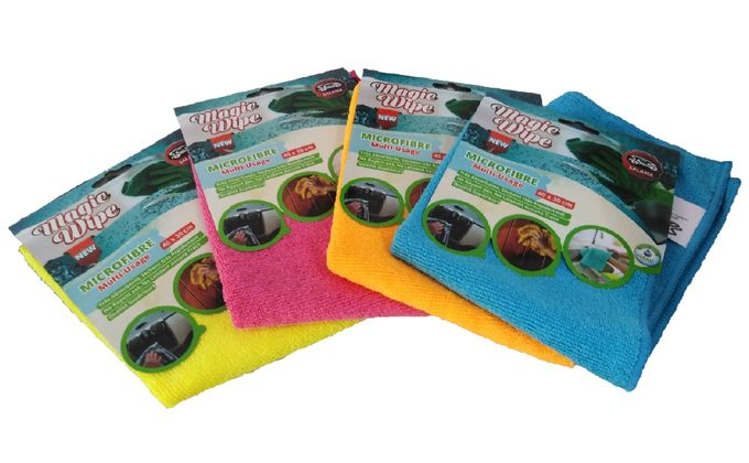 Salama Lot De  4 Chiffons Microfibre À Usage Multiple Gm - Multicolore