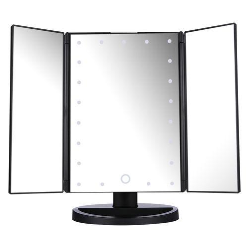 Miroir Maquillage Lumineux - 21 LED - Noir