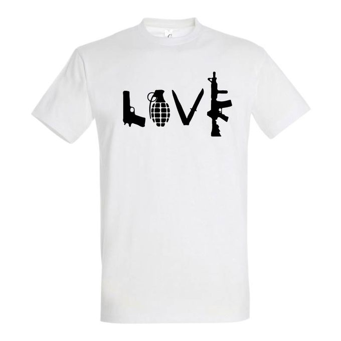 Sol's T-Shirt Homme - LOVE - Blanc