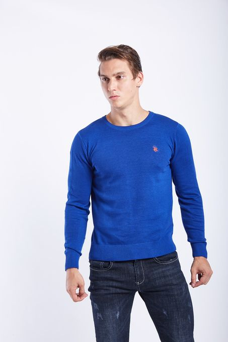 Polo Club Collection Polo Homme - Logo Pictographique - Bleu Rois
