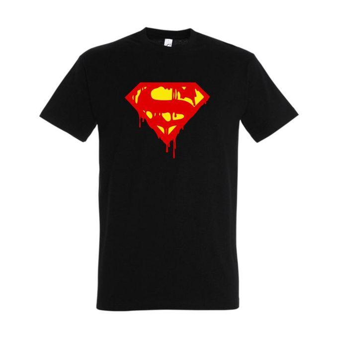 Bz T-Shirt Homme - Superman - Noir