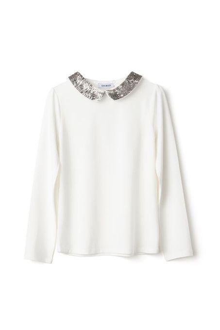 Okaidi T-Shirt + 2 Cols Amovibles Fille - 0085459 - Blanc