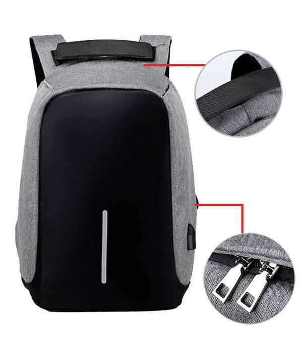 Sac À Dos Intelligent Avec Usb Port - Antivol (Gris)