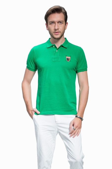 Polo Club Collection Polo Homme - 3 Grand  Logo - Vert..