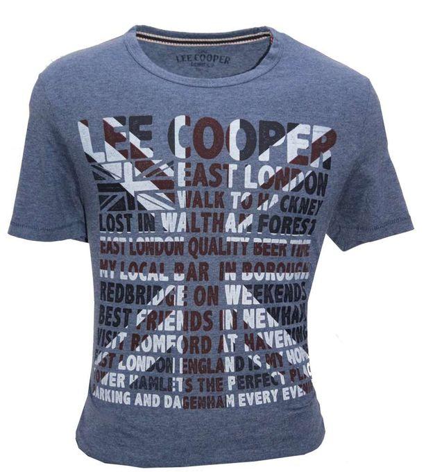 Lee Cooper T-Shirt Hommes - Bleu Navy