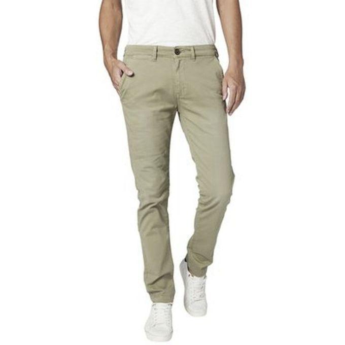 Pantalon Chino Homme - Silm Fit - Beige Grillé