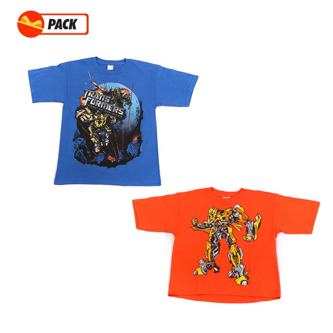 transformers Pack 02 T-Shirt Original Transformers Orange Et Bleu