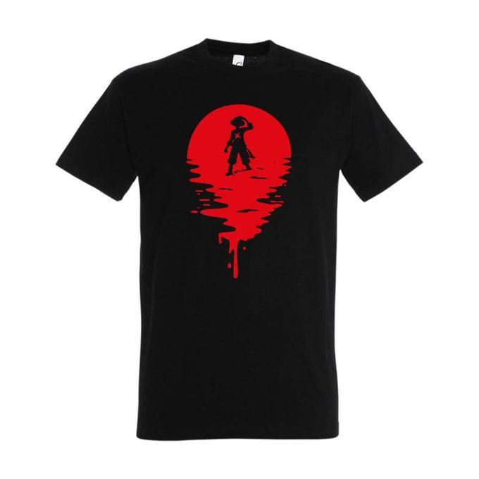 Bz T-Shirt Homme - One Piece Luffy - Noir