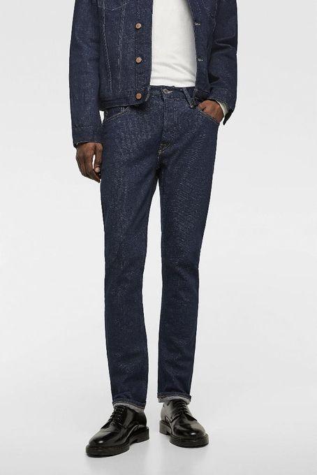 zara man Jeans Homme Nariga - Slim Fit - Bleu