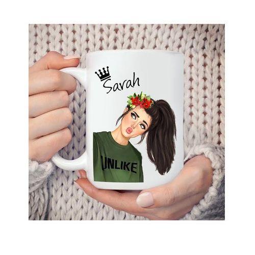 Mug Personnalisé - Recto Verso - Cadeau - Pour Sarah - Blanc