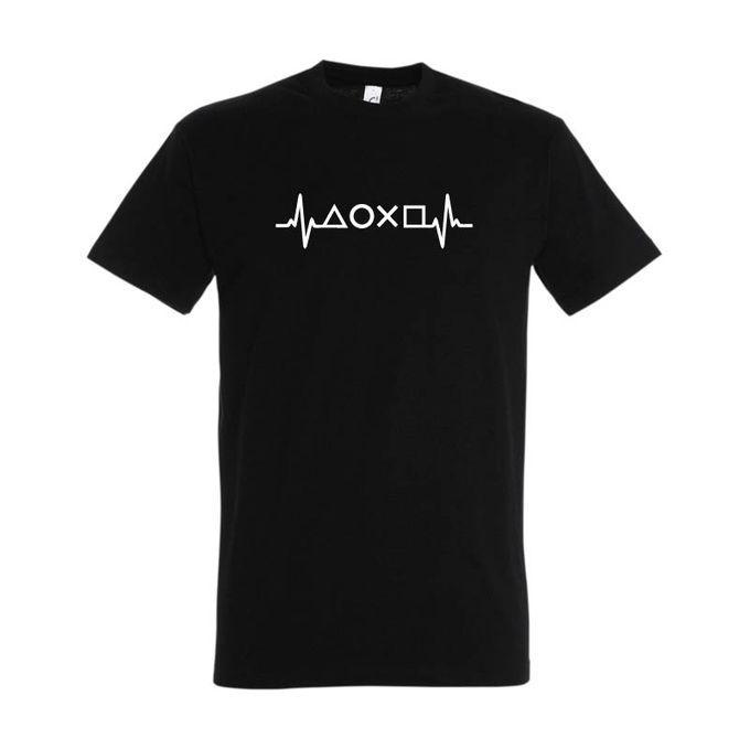 Bz T-Shirt Homme -playstation- Noir