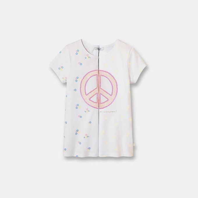 Okaidi T-shirt à motif magique fille-0085789-400-Rose