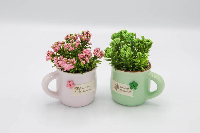 Plante-Artificielle-Duo-Vert- Rose