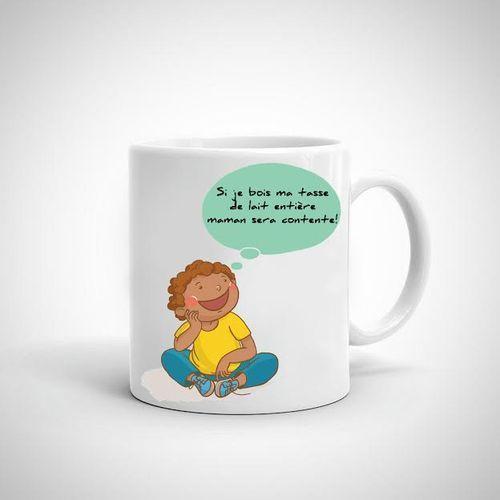 Mug Personnalisé - Recto Verso - Cadeau -Pour Enfant - Blanc