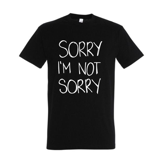 Bz T-Shirt Homme Sorry - Noir