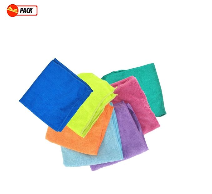 Lot De 10 Chiffons Microfibres - Multicolore