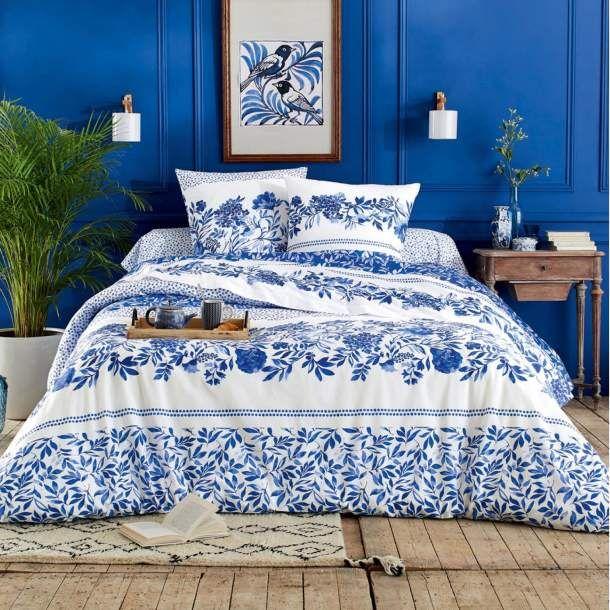 Linex Parure 2 Place  -Housse De Couette 240X220 +Drap Housse 140X190+2 T.O 63X63 -Maison Bleu -