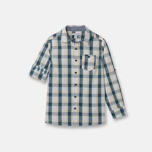 Okaidi Chemise à carreaux - Bleu