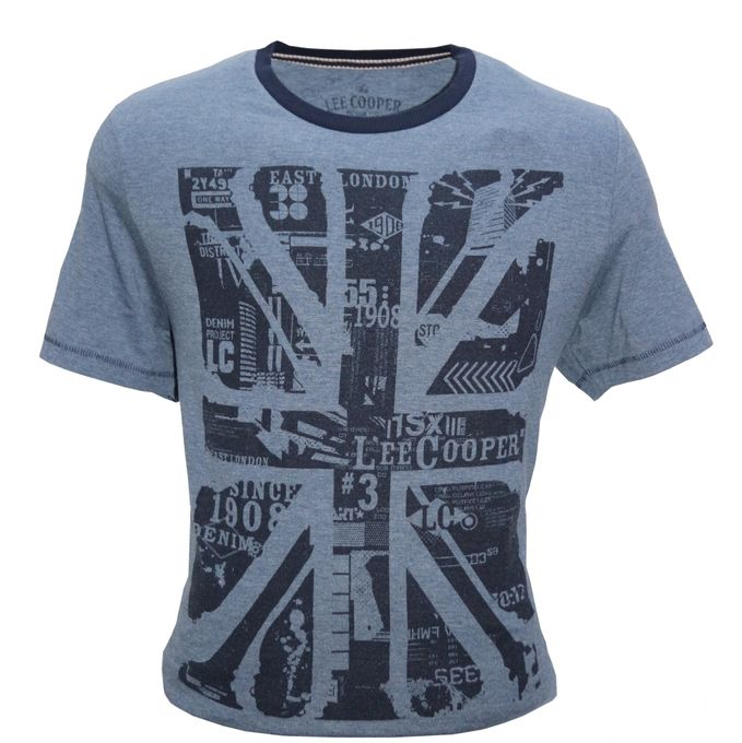 Lee Cooper T-Shirt Originale - Bleu Gris - Collection 2019 - Bleu-Gris