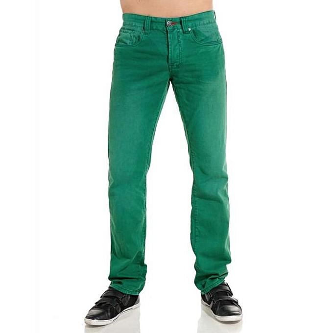 1022c88e3c7 TOMMY HILFIGER Jeans Homme - Hudson Straight Fit - Vert - Prix pas ...