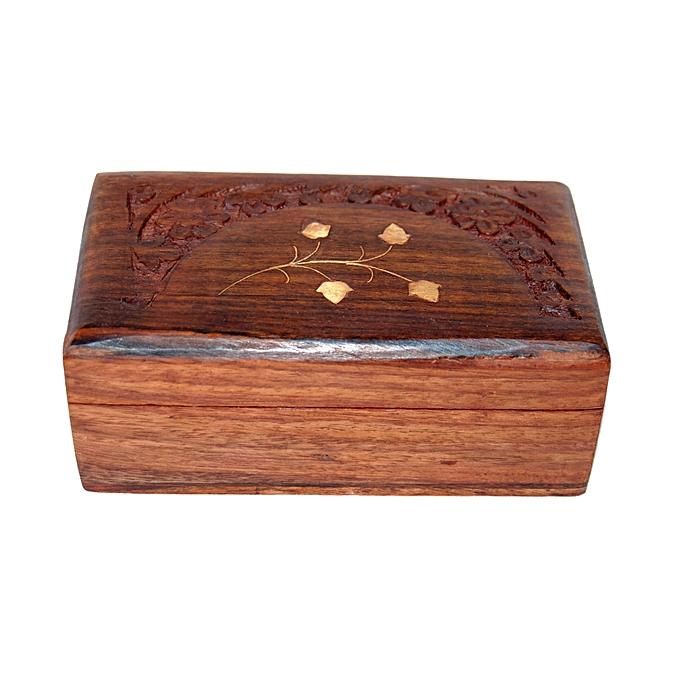 sans marque petite boite en bois dc01 prix pas cher. Black Bedroom Furniture Sets. Home Design Ideas