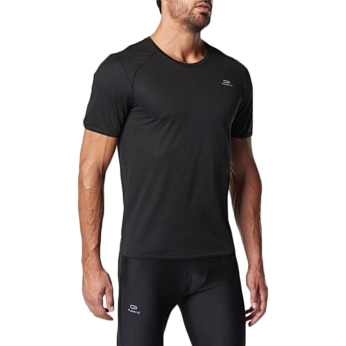 decathlon t shirt homme running kalenji noir prix. Black Bedroom Furniture Sets. Home Design Ideas