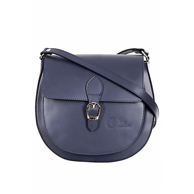 e53091841b Corinne cobson Sac à Main Femme - Cuir - Bleu Marine - Prix pas cher ...